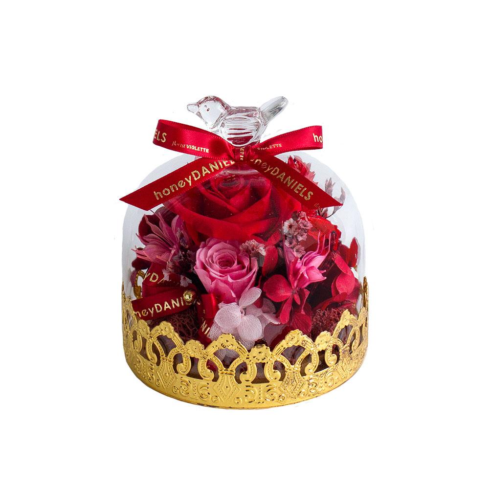金花邊鐘罩 - 紅