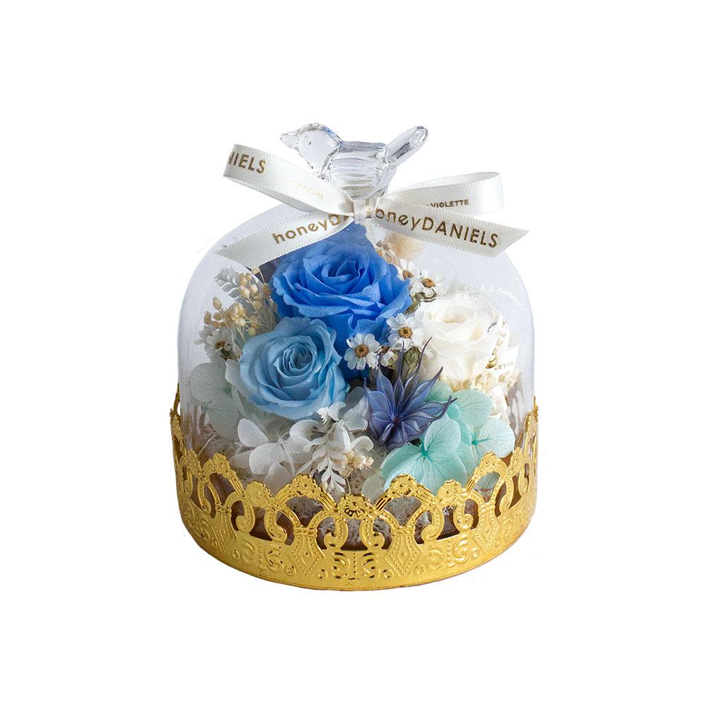 金花邊鐘罩-藍
