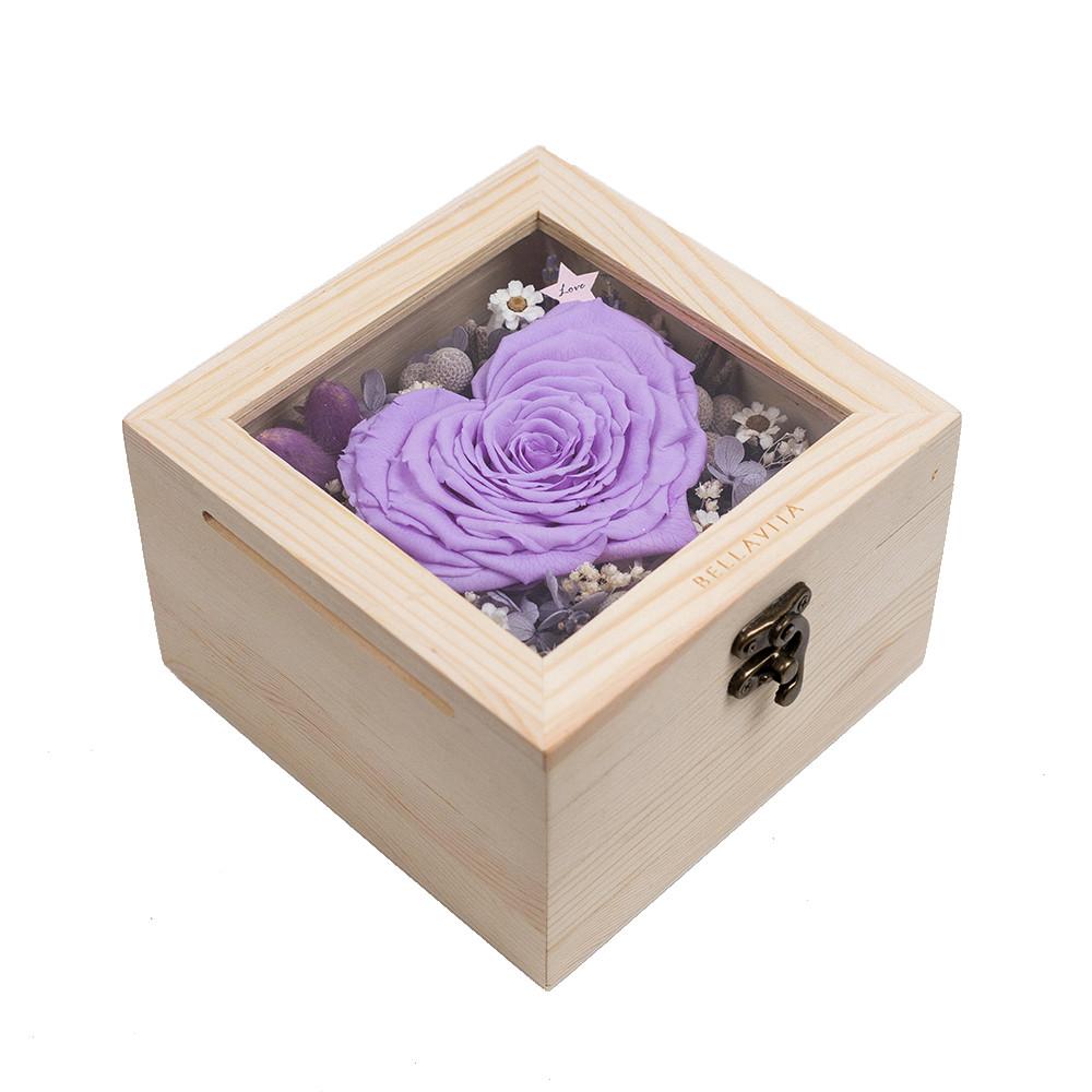 心型恆星花禮-紫